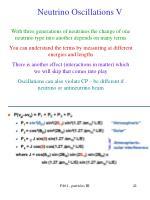 neutrino oscillations v