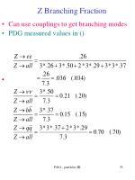 z branching fraction