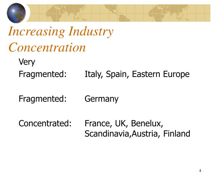 Increasing Industry Concentration
