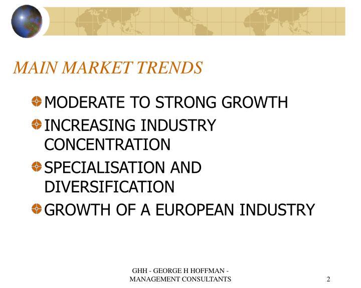 Main market trends