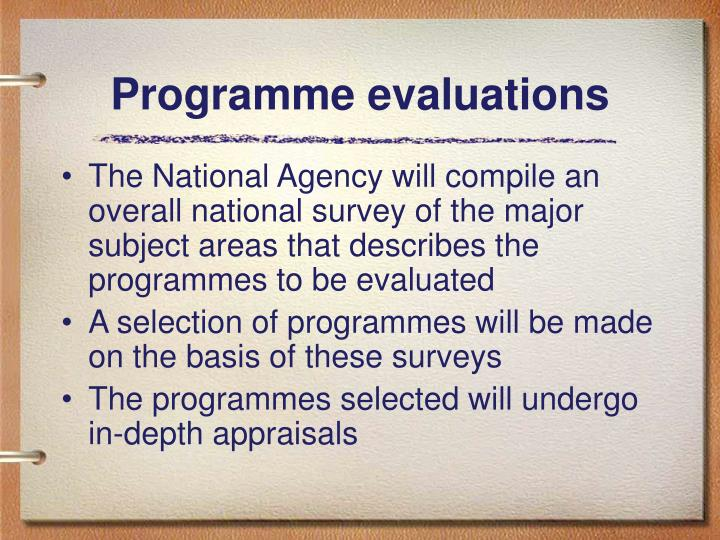 Programme evaluations