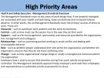 high priority areas