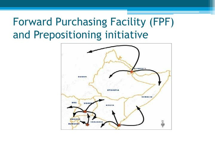 Forward Purchasing Facility (FPF)           and Prepositioning initiative