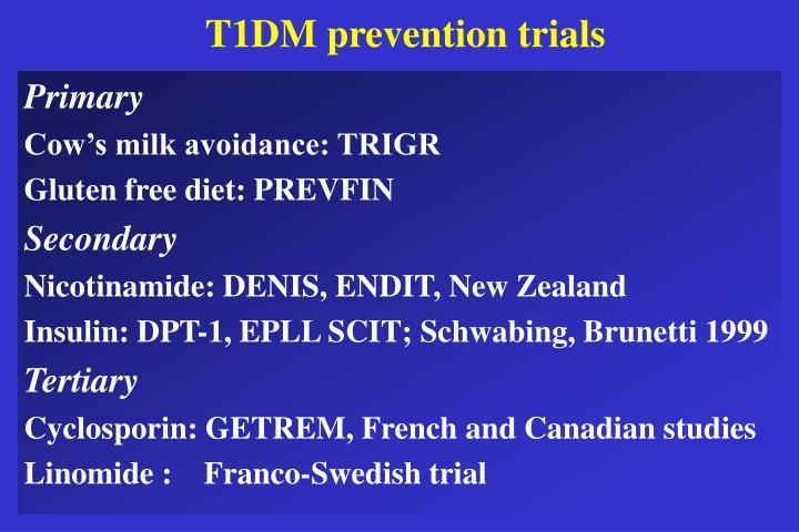 T1DM prevention trials