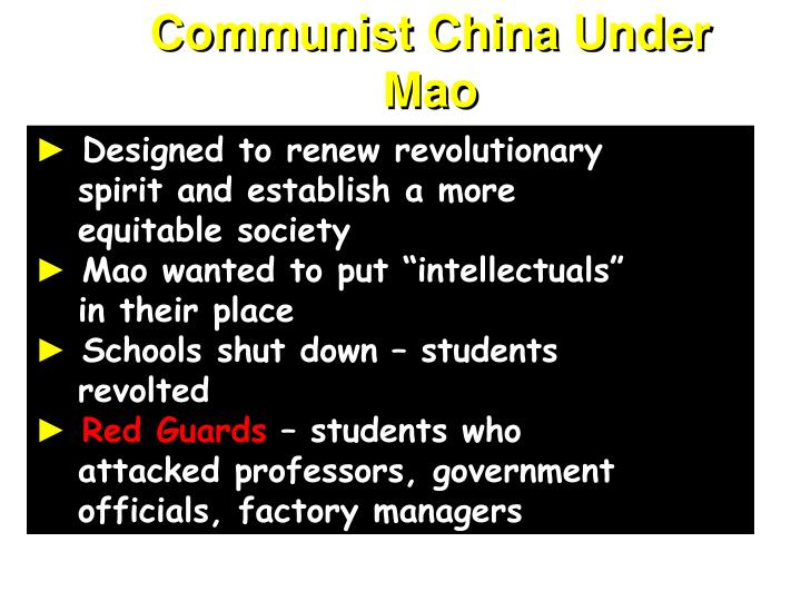 Communist China Under Mao