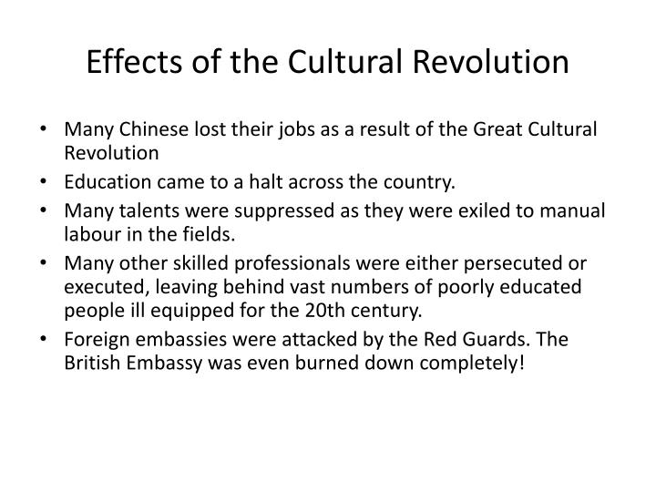 Effects of the Cultural Revolution
