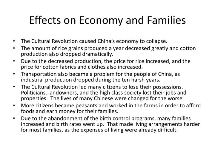 Effects on Economy and Families