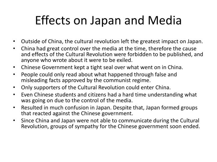 Effects on Japan and Media