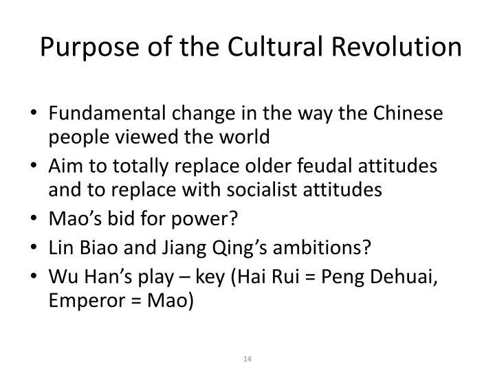 Purpose of the Cultural Revolution