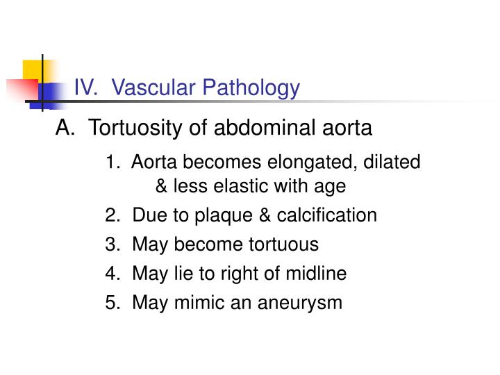 IV.  Vascular Pathology