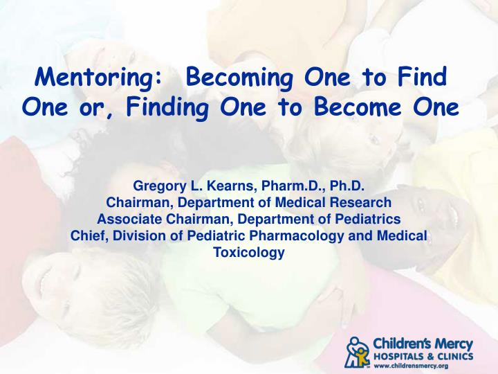 mentoring becoming one to find one or finding one to become one n.