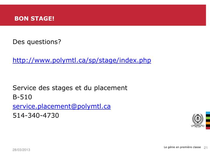 BON Stage!