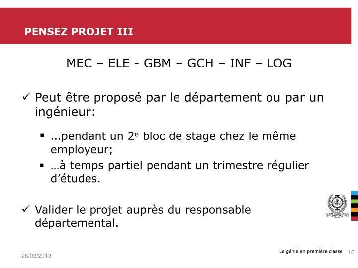 Pensez projet III