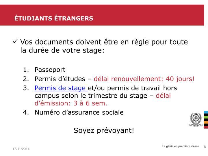 Étudiants étrangers