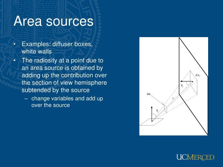 Area sources