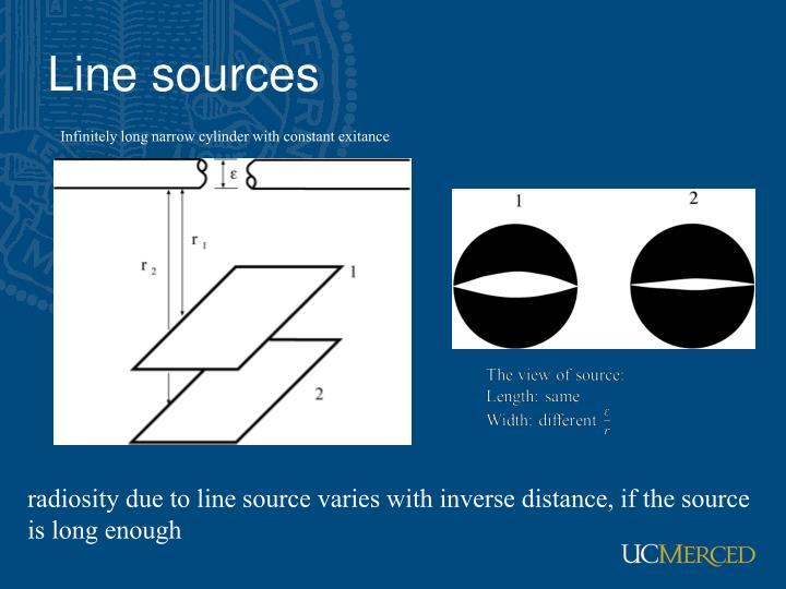 Line sources