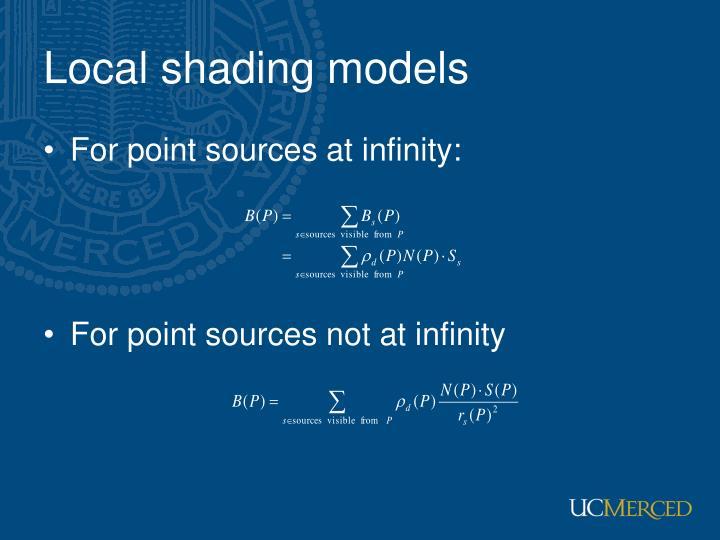 Local shading models