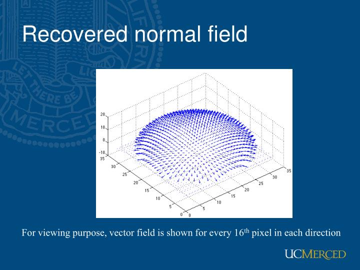 Recovered normal field