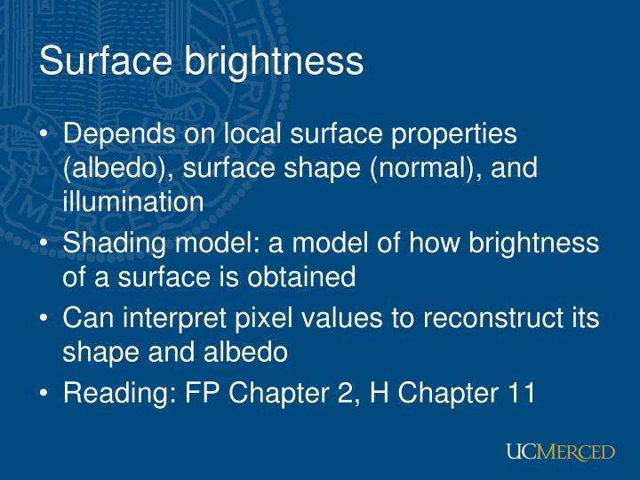 Surface brightness