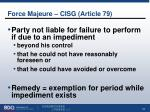 force majeure cisg article 79