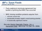 ibp v tyson foods 789 a 2d 14 del ch 2001