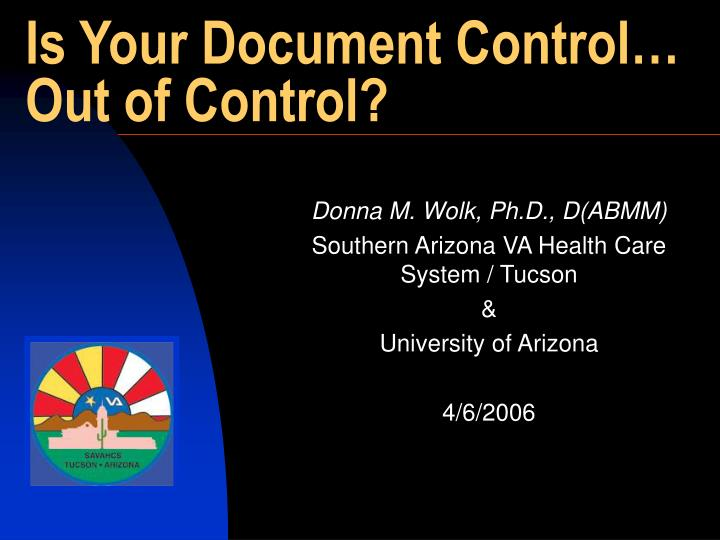 Is your document control out of control