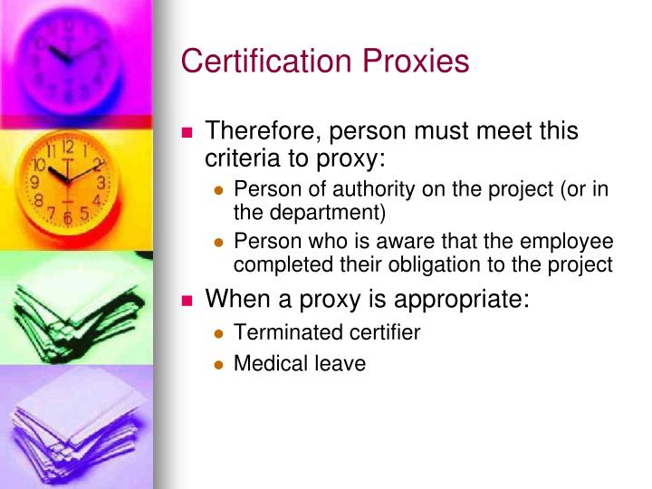 Certification Proxies