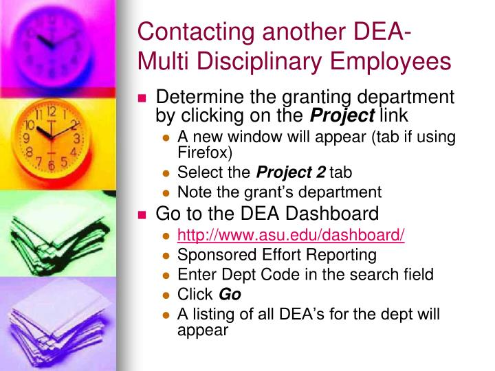 Contacting another DEA-
