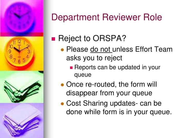 Department Reviewer Role