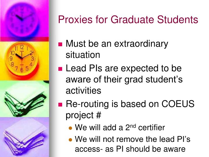 Proxies for Graduate Students