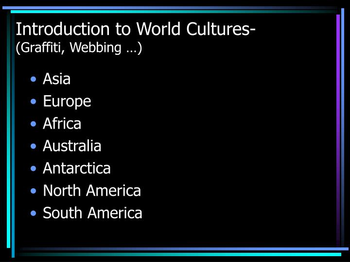Introduction to World Cultures-