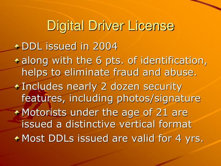Digital Driver License