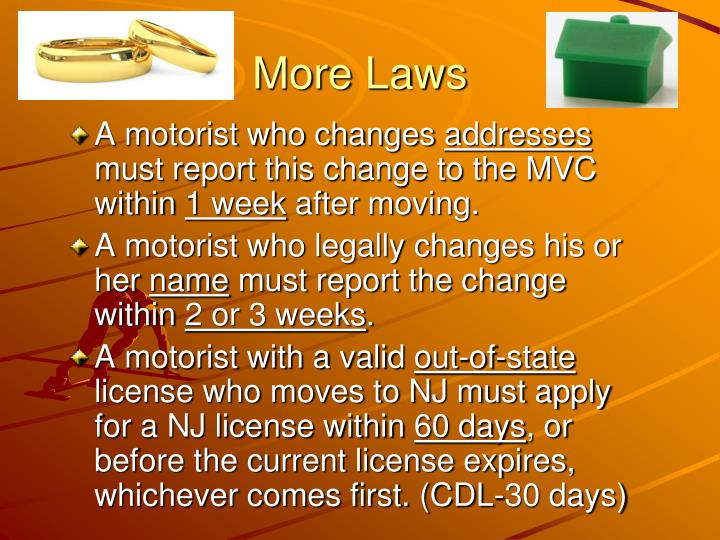 More laws