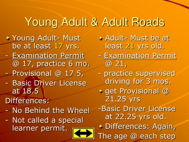 Young Adult- Must be at least