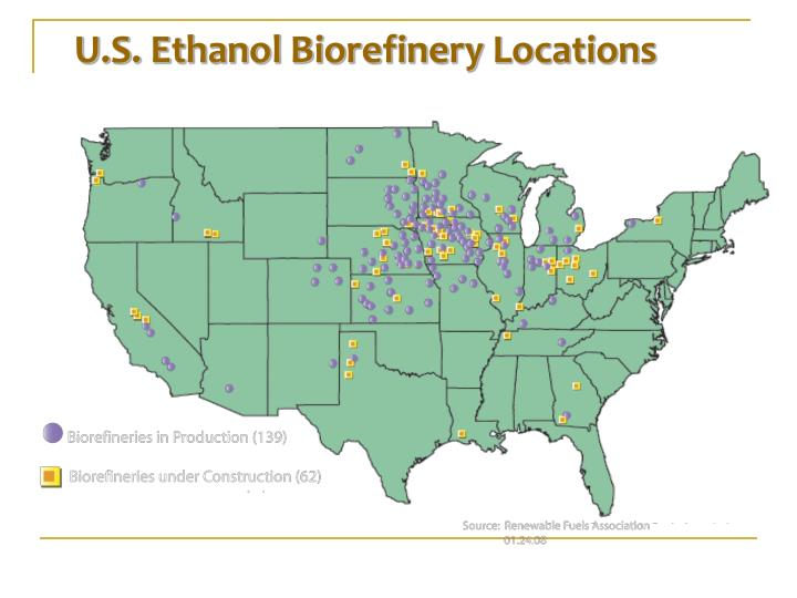 U.S. Ethanol Biorefinery Locations