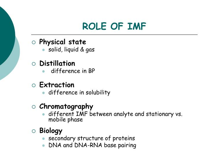 Role of imf