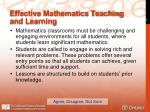 effective mathematics teaching and learning