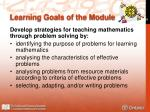 learning goals of the module3