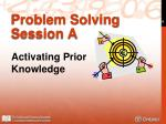 problem solving session a