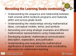 revisiting the learning goals continued1