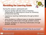 revisiting the learning goals