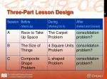 three part lesson design