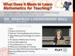 what does it mean to learn mathematics for teaching