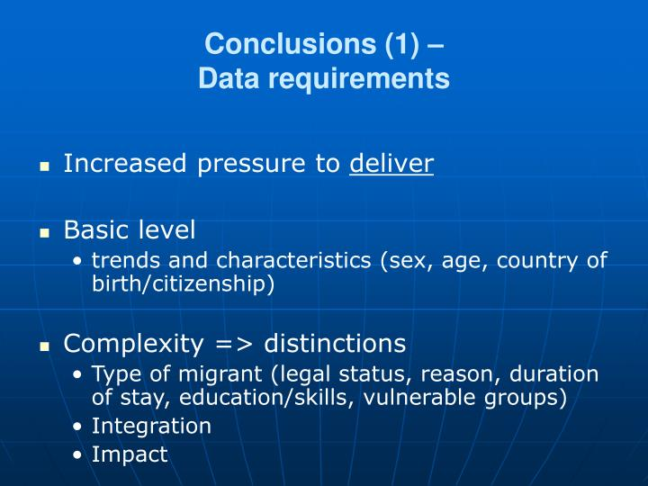 Conclusions (1) –