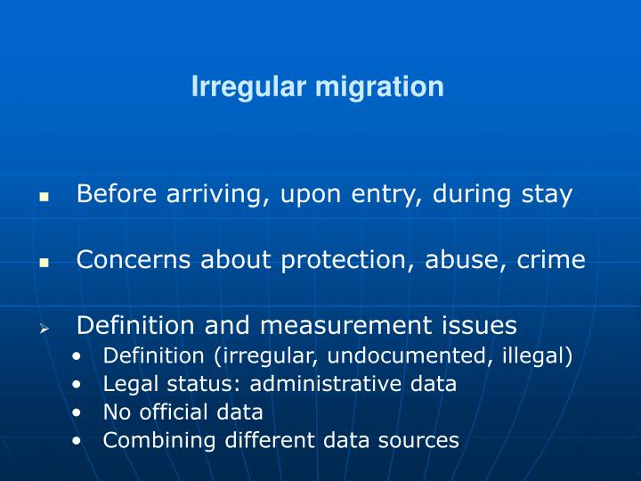 Irregular migration