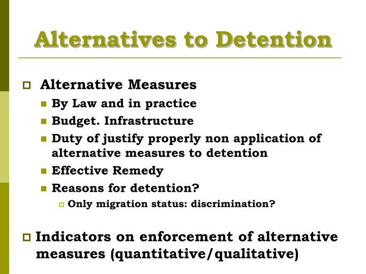 Alternatives to Detention