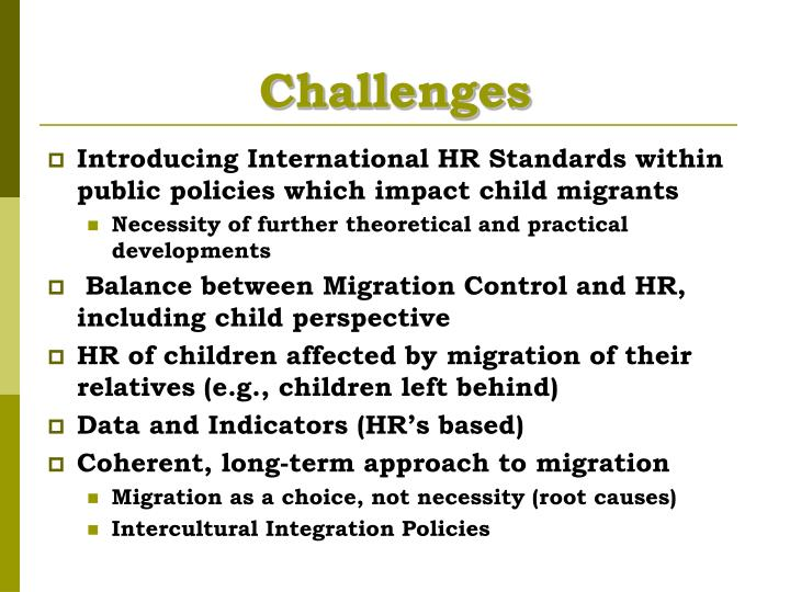 Challenges
