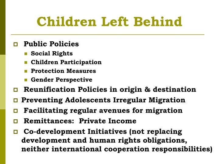 Children Left Behind