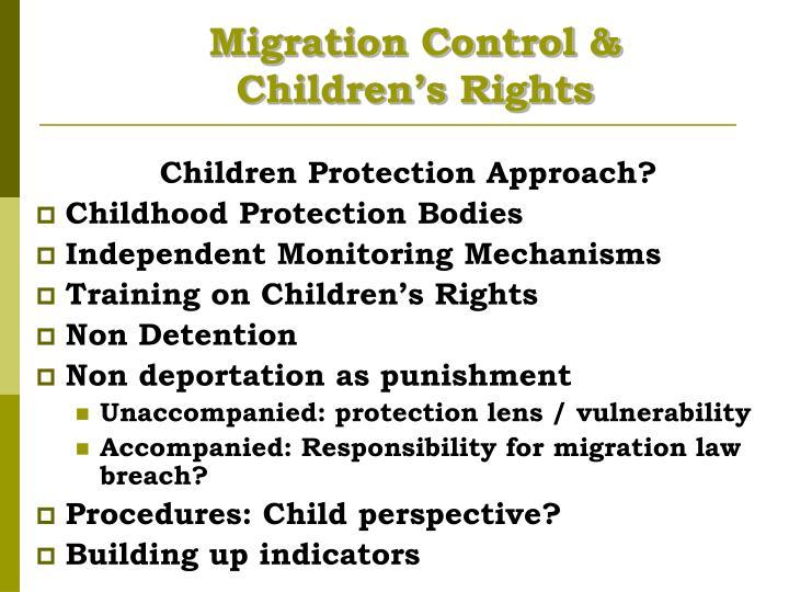 Migration Control &