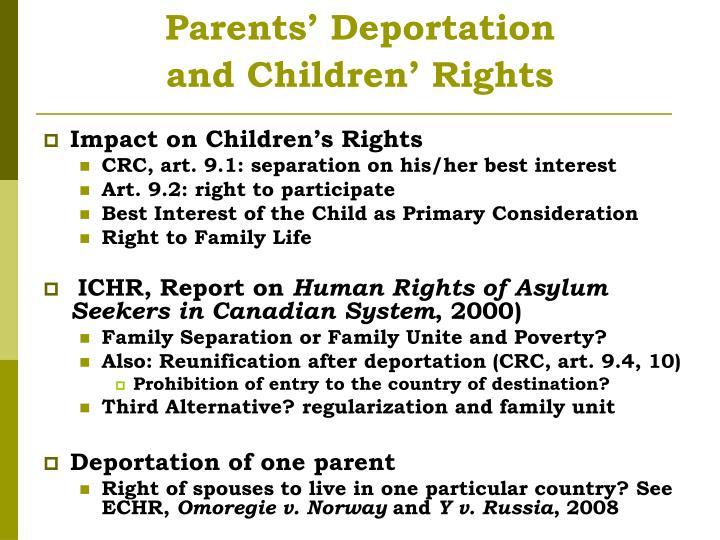 Parents' Deportation